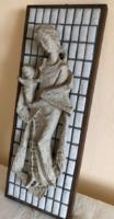 Anya gyermekével falikép