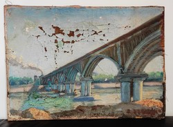 Muráti Frigyes (1856-1939) Szeged vasúti híd