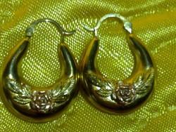Antik arany rózsás domborműves fülbevaló csodaszép antique gold earrings with roses