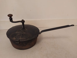 Antik kávé pörkölő nyeles dekoratív konyhai eszköz