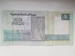 Egyiptom 5 pounds 2014 UNC