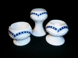 Echt Weimar Kobalt Art Deco porcelán készlet: váza, gyertyatartó, hamutál, hamu tartó