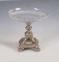 Ezüst neobarokk asztalközép