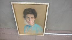 Portré festmény (Hilscher József?)