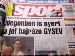2001 november 8  /  nemzeti SPORT  /  Nagyszerű ajándékötlet! Eredeti újság Ssz.:  17934