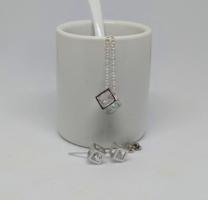 925-s ezüsttel bevont nyaklánc és fülbevaló szett