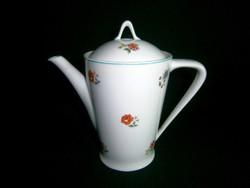 Nagyon ritka Hollóházi kávé, tea kiöntő, kancsó, gyönyörű virág mintával