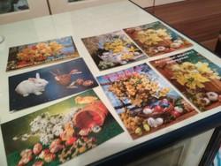7 darab posta tiszta húsvéti képeslap