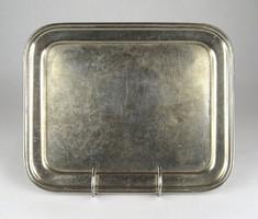 1C266 Antik vendéglátós FEKETESAS alpakka tálca 22 x 27 cm