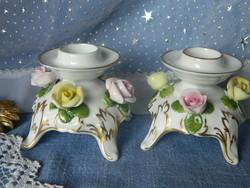 Szépséges porcelán gyertyatartó pár, Kaiser