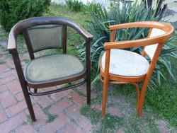 2 db Thonet jellegű szék.