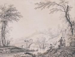 Johann Heinrich Müntz (1727-1798) - The Vyne Riverside Landscape
