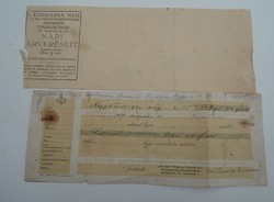 Antik régi írat Helytörténeti dokumentum 1900 évek -1-