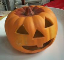 Tök mécsestartó, Halloween kerámia