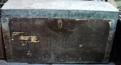 Régi Antik Vasalt Utazóláda-Hajóláda
