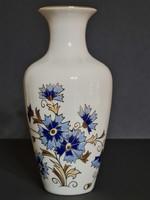 Zsolnay Búzavirág mintás váza 16 cm