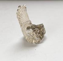 Azték harcos, mexikói ezüst gyűrű.
