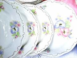 Zsolnay árvácska mintás tányér készlet