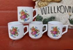 Danny felhasználó részére !!!    2 db Zsolnay  virágos mokkás bögre csésze bögrék , Gyűjtői darab
