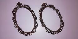 Barokk bronz képkeret pár