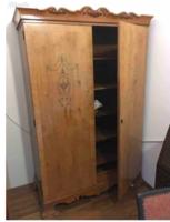 Intarziás paraszt barokk szekrénypár (hibátlanok)
