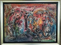 Id. Keleti Jenő 1971 olaj festménye