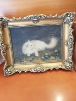 Régi cicas festmény