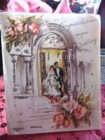 Régi esküvői üdvözlő lap