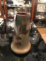 Massier irizáló váza levél dísszel
