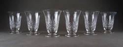 1C385 Talpas kristály pohár készlet 6 darab