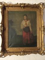 Szüle  Péter festmény: Lány korsóval