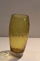 Sárga váza 28x10cm