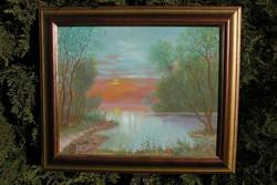 Horváth József (1962 - 2019) olajfestmény! 40×50 cm