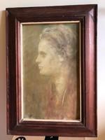 Finoman megfestett női portré