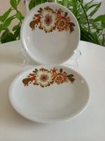 Alföldi porcelán_Icu mintás sütis tányérok párban_retro