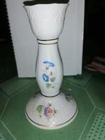 Hollóházi porcelán gyertya tartó