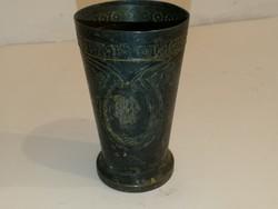 Gyönyörű antik kehely/kupa, - igazán régi, jelzett- anyaga??? - 1 forintról, garanciával.