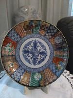 Japán imari stilusban festett tányér