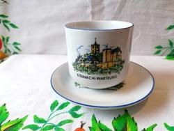Kahla kávés csésze  +  alj (Eisenach-Wartburg vára)