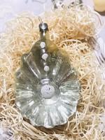 Régi retro antik üveg karácsonyfadísz ,kagyló