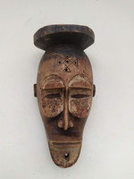 Antik afrika afrikai majom maszk Chokwe népcsoport african mask Angola   zk10