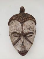 Antik afrika afrikai maszk Idoma népcsoport african mask Nigéria arc homlok tetoválás jelzéssel zk4