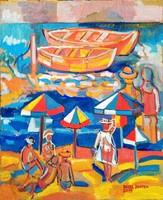 Józsa Poppea festőművész Olasz tengerpart