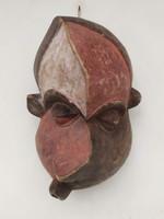 Afrikai antik gyógyító maszk Pende népcsoport Kongó  zk13