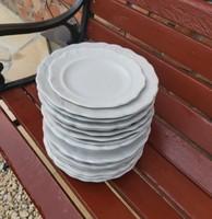 17 db Indamintás vegyes  Paraszti tányérok, 8  db mélytányér,  8 db lapos+ 1 sütis, Drasche,Cseh, MZ