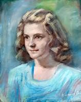 Emanuel Béla ( 1879 - 1976 ) FIATAL LÁNY PORTRÉJA 1949 BŐL  !!!