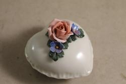 Ens rózsás szív bonbonier 565