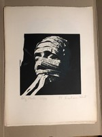 "Schwierkiewicz Róbert (Pécs 1942-2019 ) 'Ady-Maszk' ""Szita"" Ady mappából kiadva 1977 Párizs 39/100db"