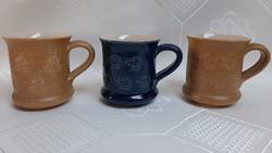4043 - Máté Géza kerámia kávéscsésze nyomott mintával