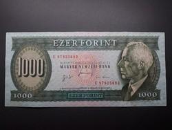1000 Forint 1996 E - Régi, retró papír ezer forintos papírpénz - Zöld Bartók ezres bankjegy